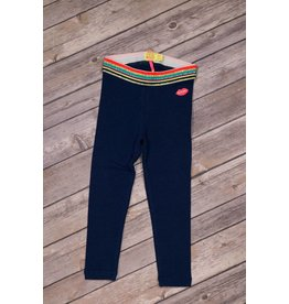 Kidz Art Navy Leggings with Glitter Striped Waistline