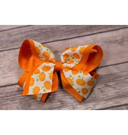 Wee Ones King Harvest Print Bow