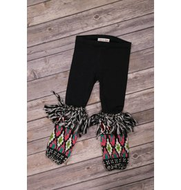 Mimi & Maggie Happy Tribe Tassel Legging Black