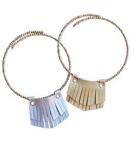 Baileys Blossoms Leather Fringe Necklace