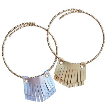 Bailey's Blossom Leather Fringe Necklace