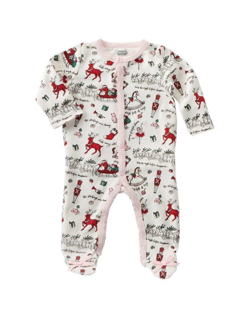 Mud Pie Girl - Footed Christmas Sleeper - Peek-a-Bootique