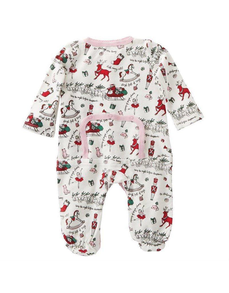 mud pie girl footed christmas sleeper - Mud Pie Christmas Pajamas