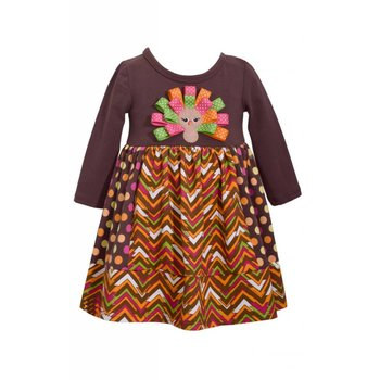 Bonnie Baby Zigzag Turkey Dress
