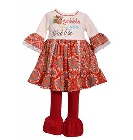 Bonnie Baby Gobble Till You Wobble Tunic Set