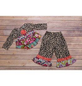 Sage & Lilly Wild Child Leopard Ruffle Set