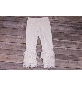 Adora-Bay Lace Ruffle bottom leggings