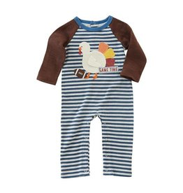 Mud Pie Turkey Football Raglan One Piece