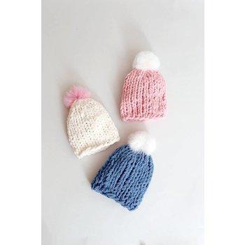 Mae Li Rose Thick Knit Hat One Size