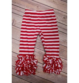Serendipity Clothing Co Red Stripe Icing Legging