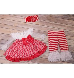 Serendipity Clothing Co Candy Cane Dress with Leggings