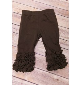 Adora-Bay Brown Ruffle Legging