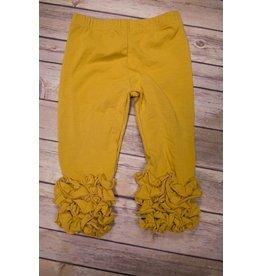 Adora-Bay Mustard Ruffle Legging