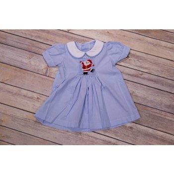 Remember Nguyen Blue Ice Skating Santa Apron Dress