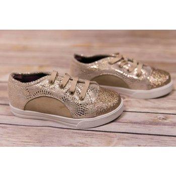 Baby Deer Gold Glitter Toe Sneaker