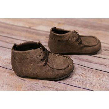 Baby Deer Brown  Distressed Wallabee Shoes
