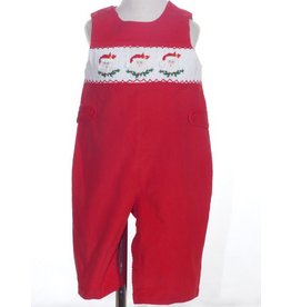Mom & Me Red Corduroy  Smocked Santa Shortall