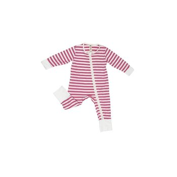 Earth Baby Outfitters 2 Way Zippy Coverall Pink Stripe