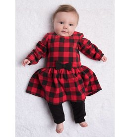 Kapital K Bufflao Plaid Fleece Tunic and Legging Set