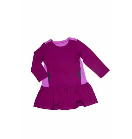 Sweet Bamboo Two-Tone Cranberry Peekaboo Tunic Dress