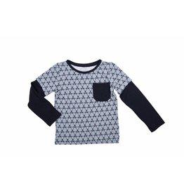 Sweet Bamboo Black And Grey Triangle Bamboo Shirt