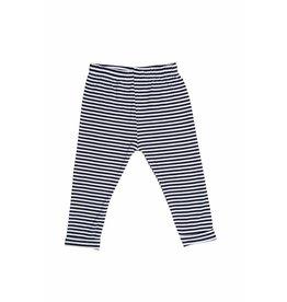 Sweet Bamboo Black & White Stripe cuff Leggings