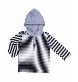 Sweet Bamboo Black and White Striped Bamboo Hoodie