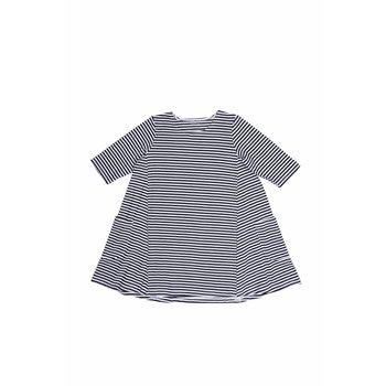Sweet Bamboo Miss Mahem Black and White Striped Dress