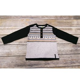 Noruk Mountain Pattern Henley Shirt