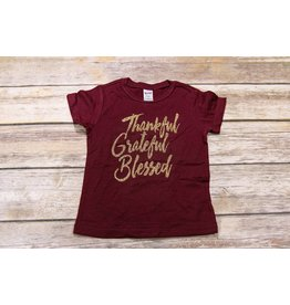 Jujubee Bowtique Thankful Grateful Blessed Tee