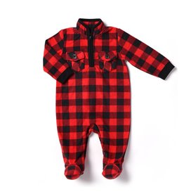Kapital K Buffalo  Plaid Half Zip Coverall