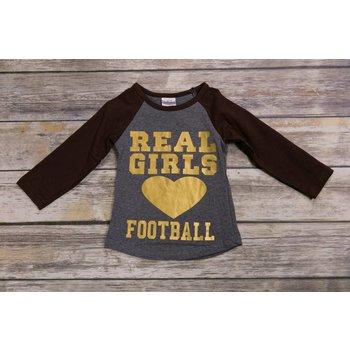Real Girls Love Football Raglan