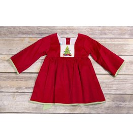 KREWE. Smocked Corduroy Christmas Tree Dress