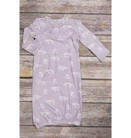 Angel Dear Floral Polar Bear Bamboo Gown