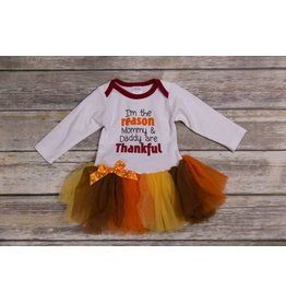 Ganz I'm the Reason Mommy and Daddy are Thankful Tutu Onesie