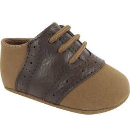 Baby Deer Brown and Tan Saddle Shoe