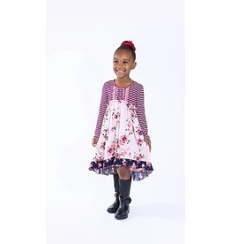 Pink Vanilla Babydoll ruffle hem Dress