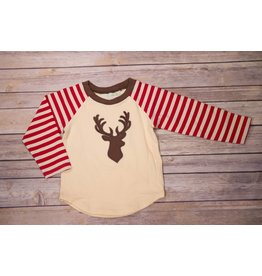 Be Mine Raglan Deer Applique Pants Set