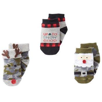 Mud Pie Camo Christmas Sock Set 0-12M