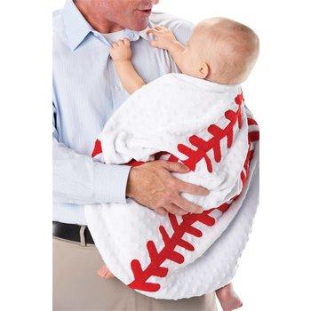 """Mud Pie 27"""" Baseball Blanket"""