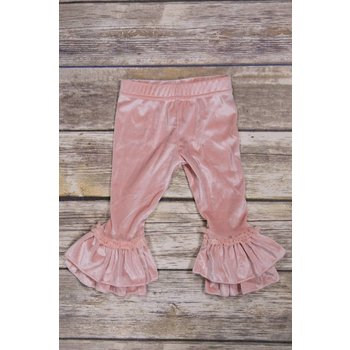 Calla Lily Blush  Velvet Bellbottoms