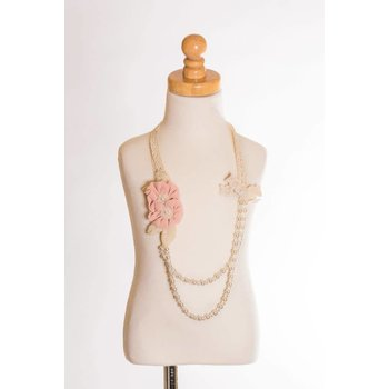 MLKids Double Flower and Pearl Necklace
