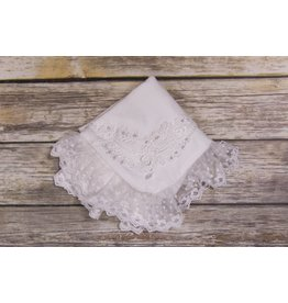 Frilly Frocks Bethany White Lace Blanket