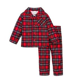 Little Me Plaid  PJ Set