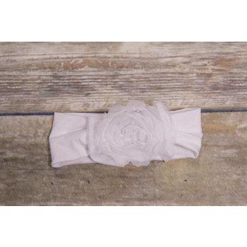 Bebemonde White Sheer Rose Newborn Headband