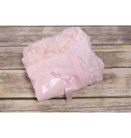 Bebemonde Pink Rose and Ribbon Blanket