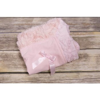 Bebemonde Pink Rose and Ribbon Blanket