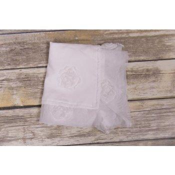 Bebemonde Sheer White Rose Blanket