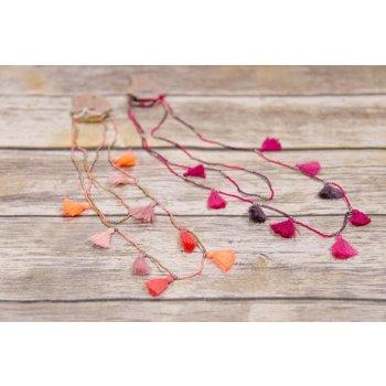 Bela & Nuni Multi Tassel Wrap Necklace