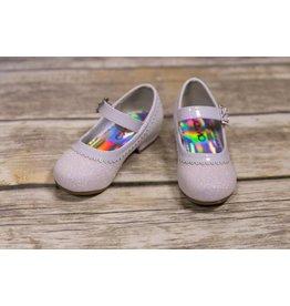 JoSmo White Glitter Dress Shoes
